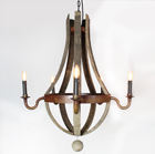 Oak Barrel chandelier