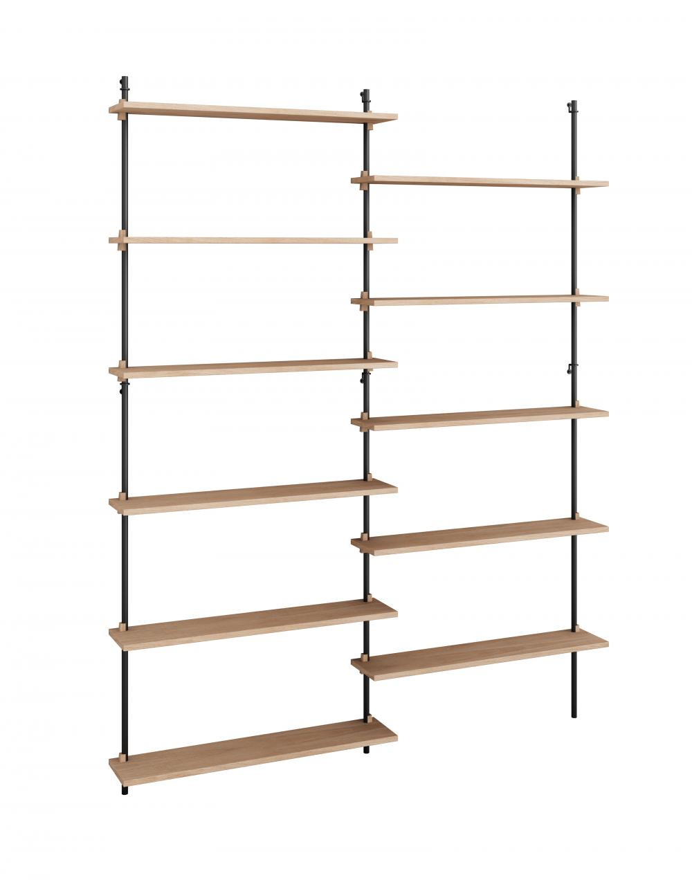 Wall shelving set double by Moebe
