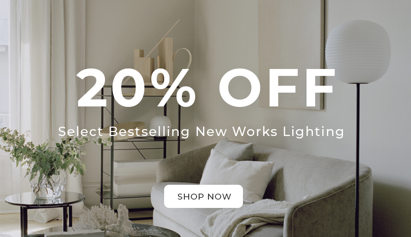 20% off select bestselling New Work Lighting