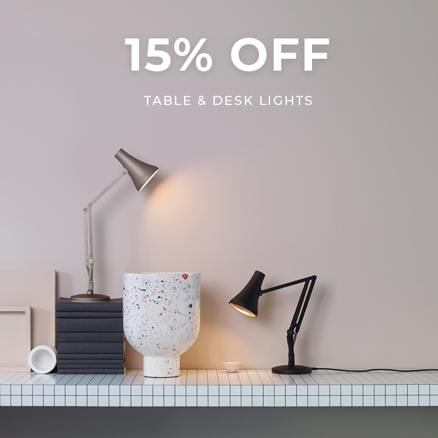 15% off Table & Desk Lights