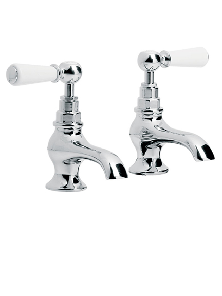Lefroy Brooks Classic bath pillar taps with white lever handles WL8054  From   249 60. Bath taps   Holloways of Ludlow