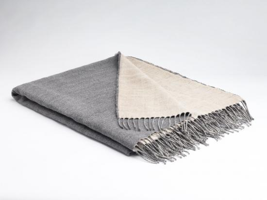 Feather Grey Reversible Throw