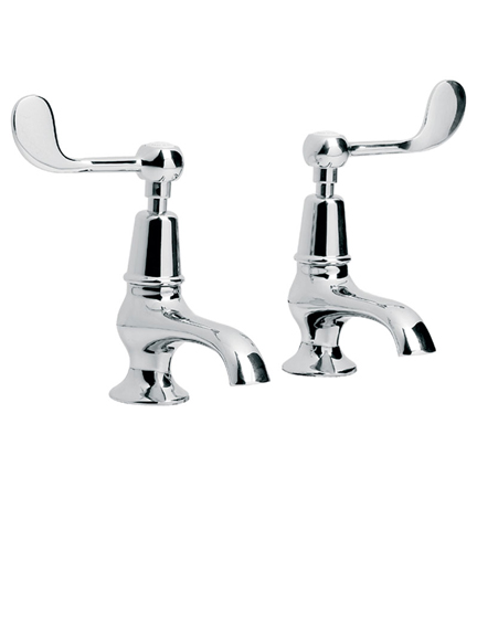 lefroy brooks connaught lever basin pillar taps cl8022. Black Bedroom Furniture Sets. Home Design Ideas