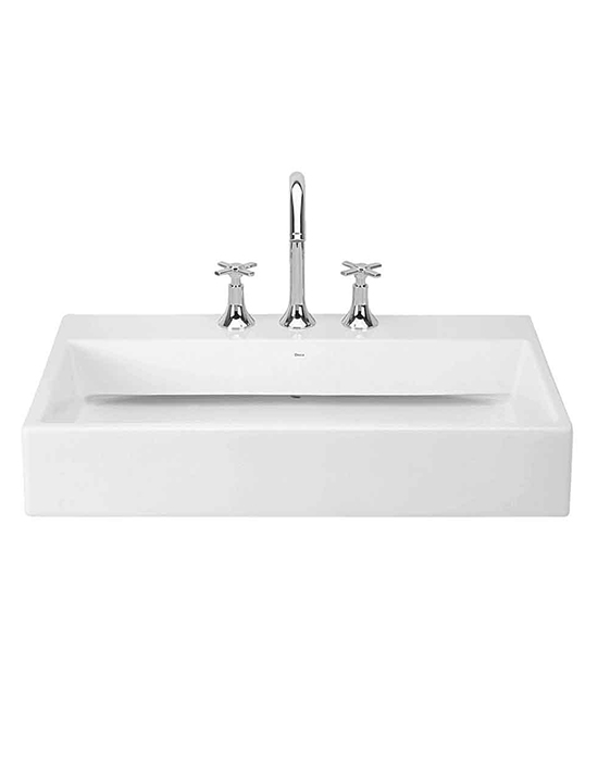 Deca Deck mounted free flow basin