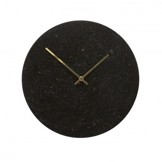 Black Marble and Gold Clock