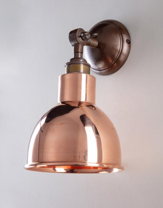 Old School Electric Churchill wall light - metal shades