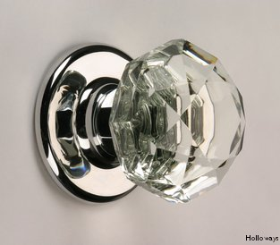 Cut glass door knobs