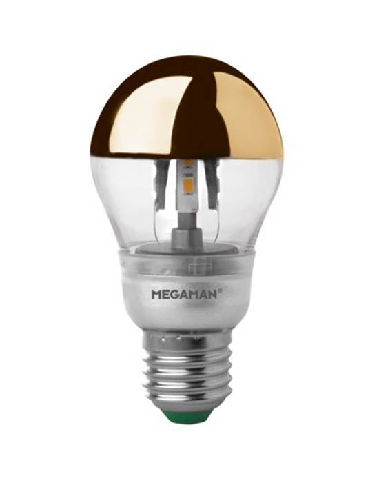 Brass crown LED bulb
