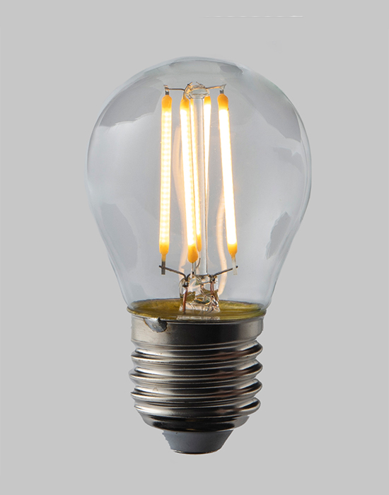 LED filament dimmable golf ball bulb - E27