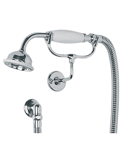 lefroy brooks shower handset cradle wall outlet and hose. Black Bedroom Furniture Sets. Home Design Ideas