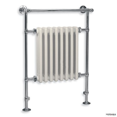 Lefroy Brooks Classic ball jointed cast-iron radiator towel warmer in white