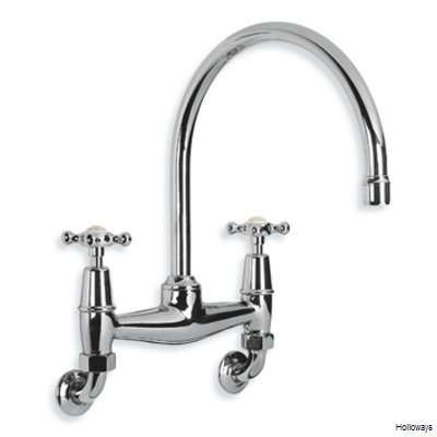 Lefroy Brooks CH1518 Connaught wall mounted kitchen bridge mixer tap