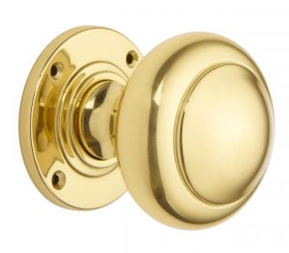 Rounded door knob set (mortice)