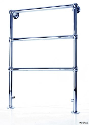 Traditional ball joint heated towel rail - Three rail