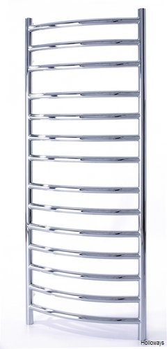 Curved BMR heated towel rail 1000