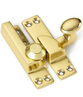 Straight arm sash fastener