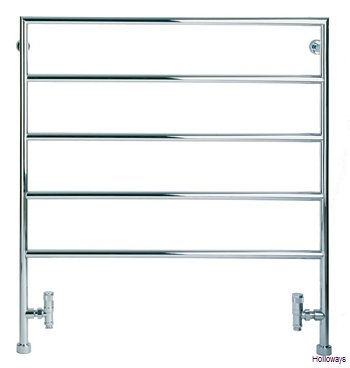 Minimalist floor standing heated towel rail
