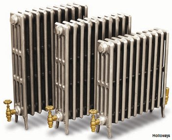 Hand-polished cast-iron Victorian radiators