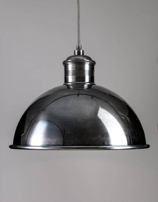 40cm Pewter Dome Pendant
