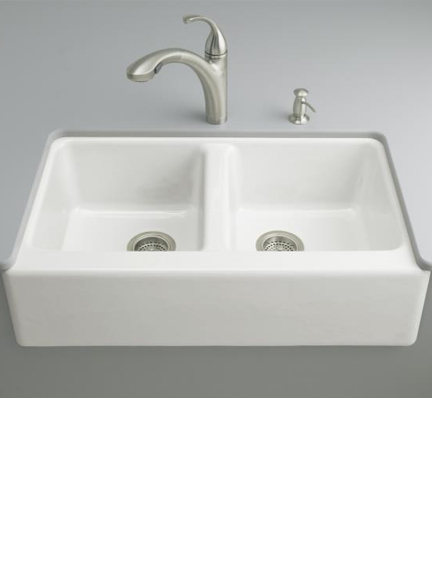 Hawthorne double bowl sink