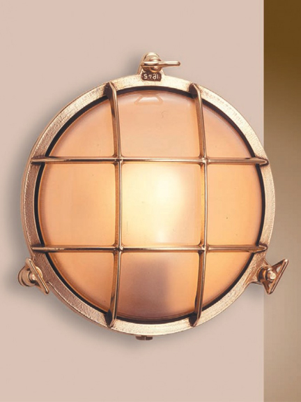 Guarded round bulkhead light