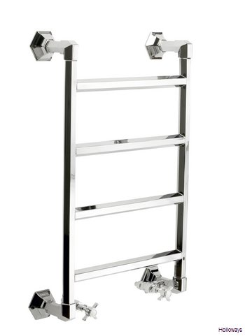 Art Deco wall mounted heated towel rail - Large