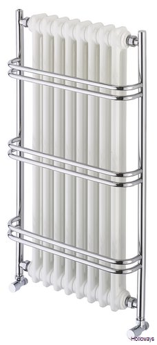 Wall Mounted Heated Towel Rail With Radiator Straight Double