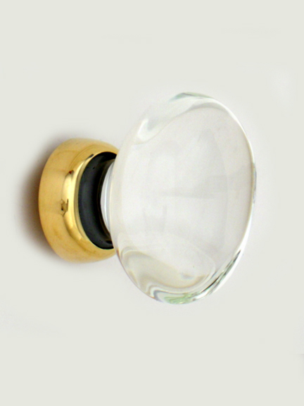 Oval glass cupboard knobs