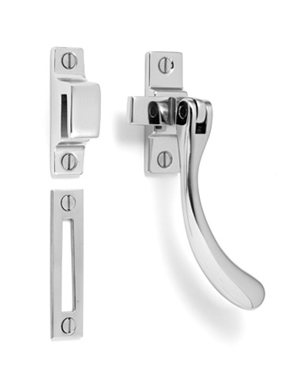 Teardrop casement window latch