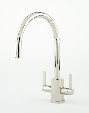 Rubiq monoblock sink mixer C spout with lever handles