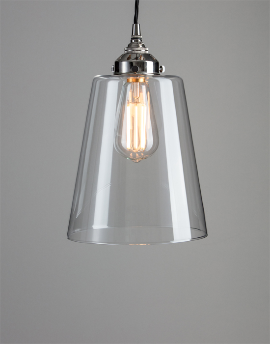 Pendants and chandeliers holloways of ludlow tapered blown glass pendant from 6250 mozeypictures Images