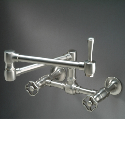 Steam Valve Original wall mounted bridge mixer with articulated spout