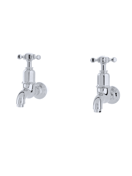 Mayan wall mounted taps with crosshead handles