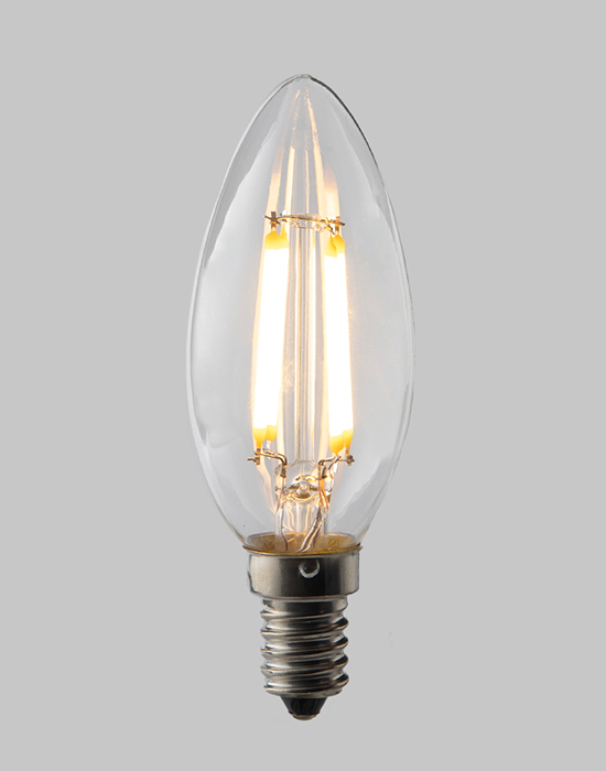 LED filament dimmable candle bulb - E14