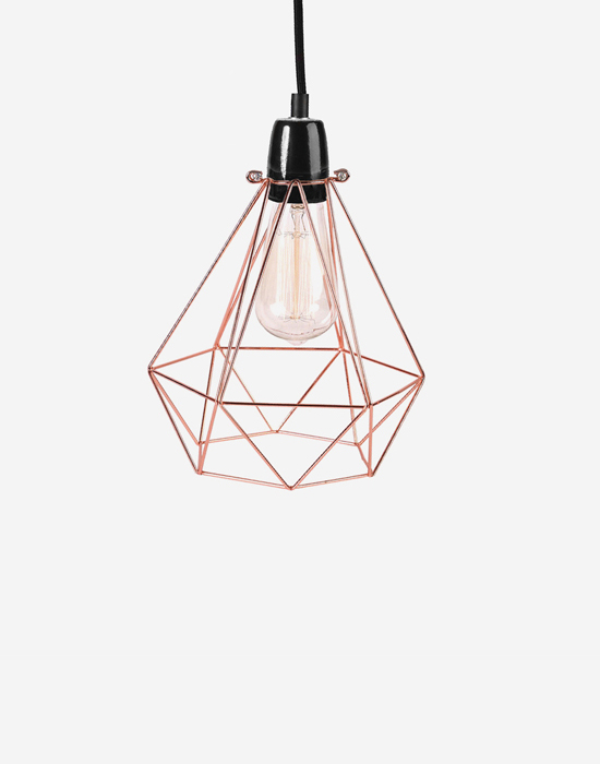 Industrial cage pendant - with FREE bulb