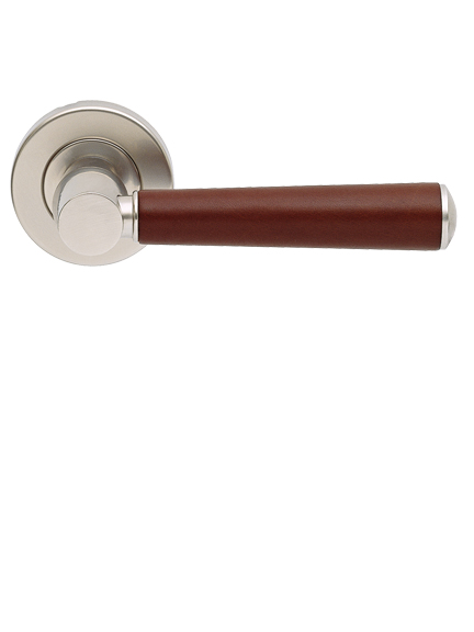Leather tube door handles - internal stitch