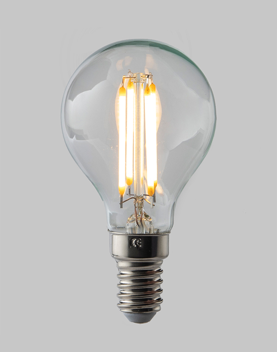 LED filament dimmable golf ball bulb - E14