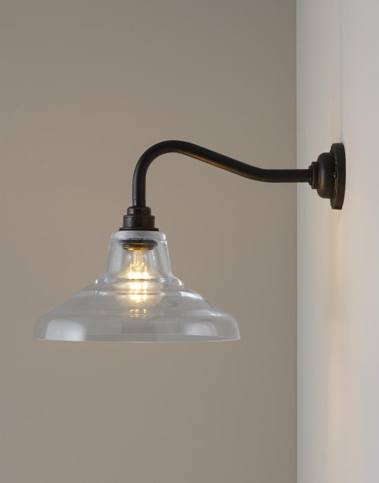 Glass School wall light
