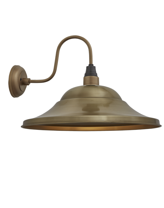 Brooklyn vintage swan neck wall sconce giant hat from £99 00
