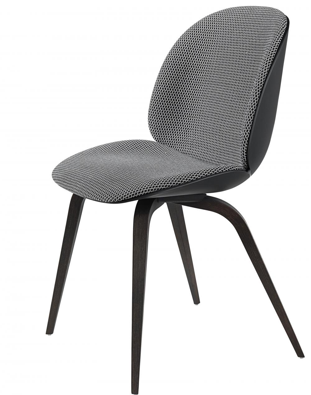 Beetle Dining Chair - Wood Base - Front / Fully Upholstered
