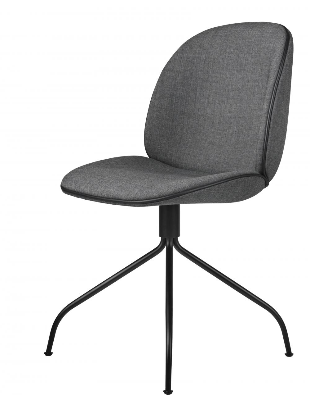 Beetle meeting chair - swivel base - fully upholstered