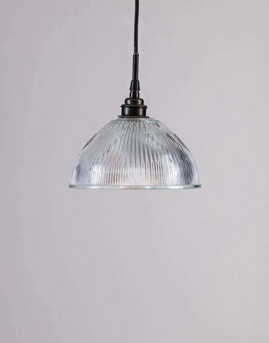 Old School Electric prismatic dome pendant - IP rated for bathrooms