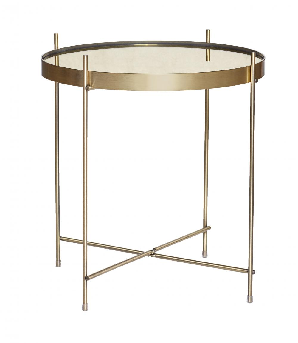 Round Mirrored Metal Table