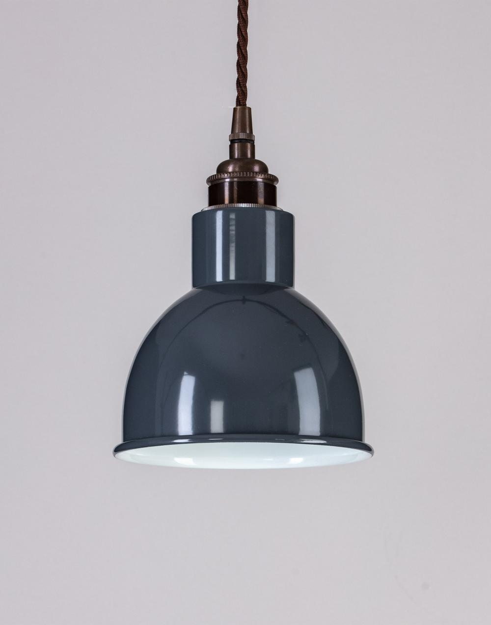Old School Electric Churchill pendant - coloured shades