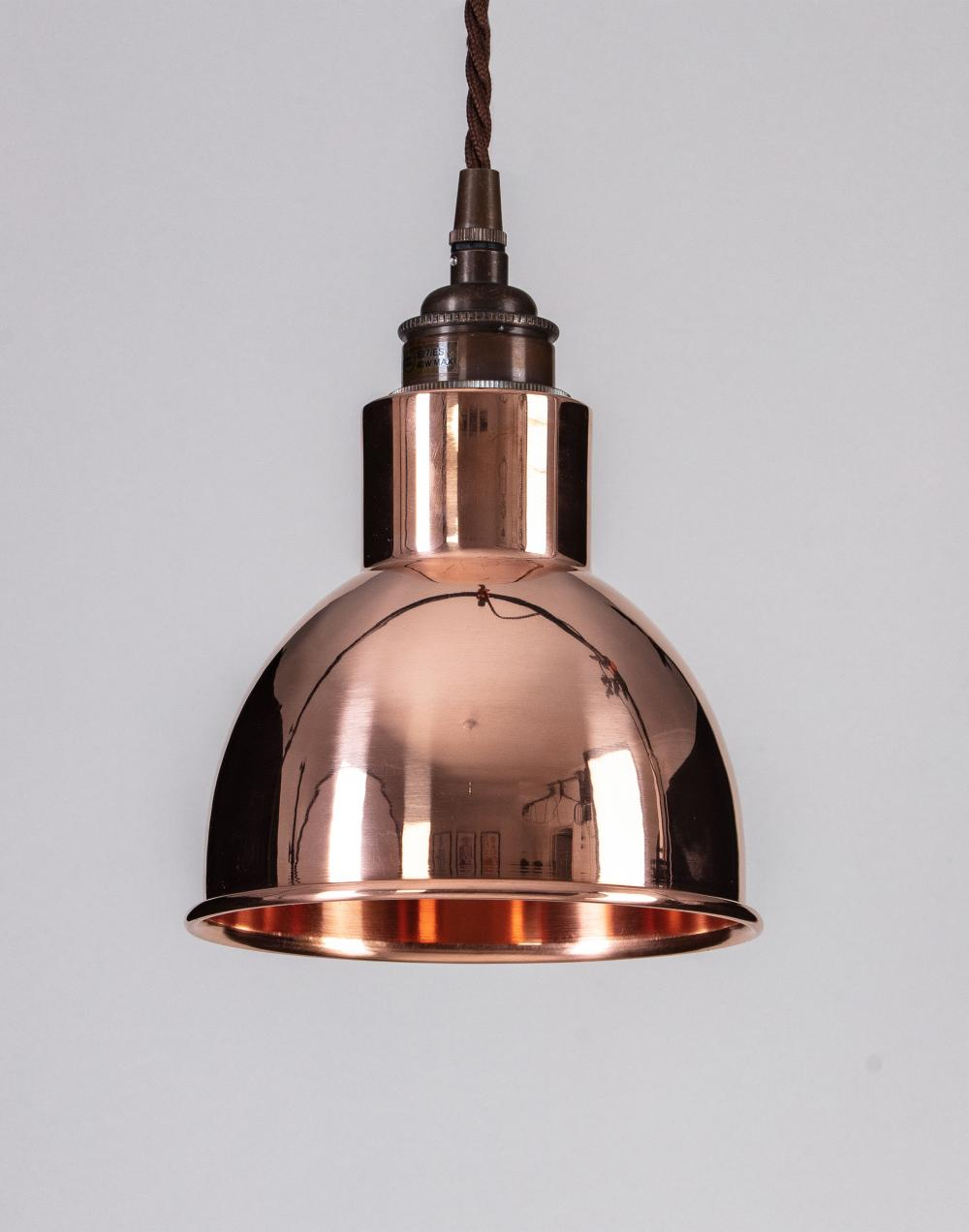 Old School Electric Churchill pendant - metal shades