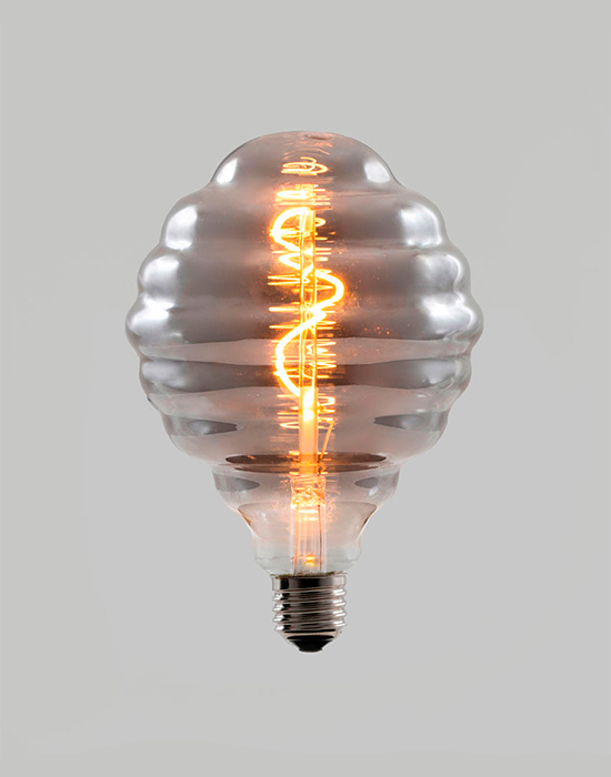 Spiral filament LED bulb - smoked