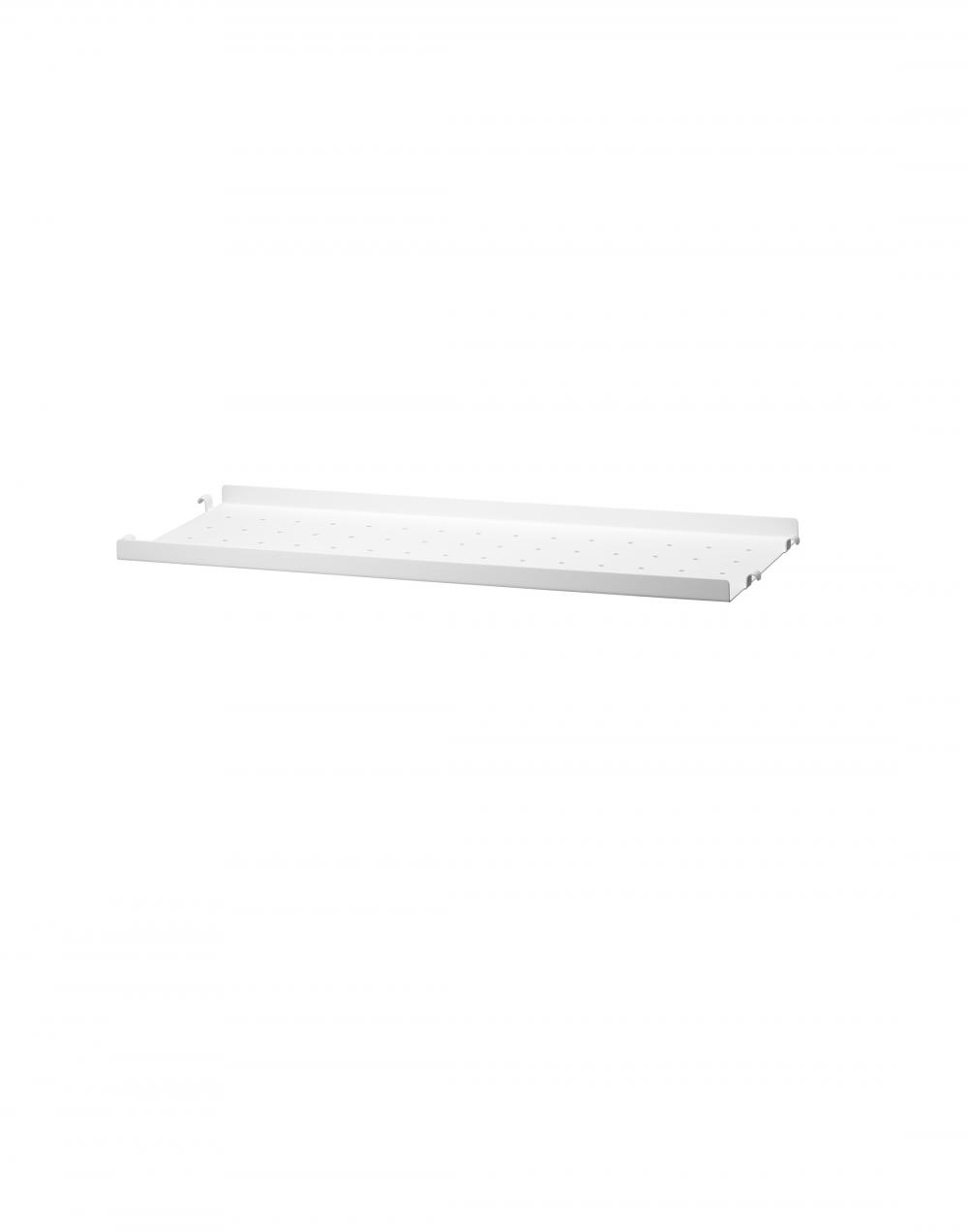 String metal shelf with low edge