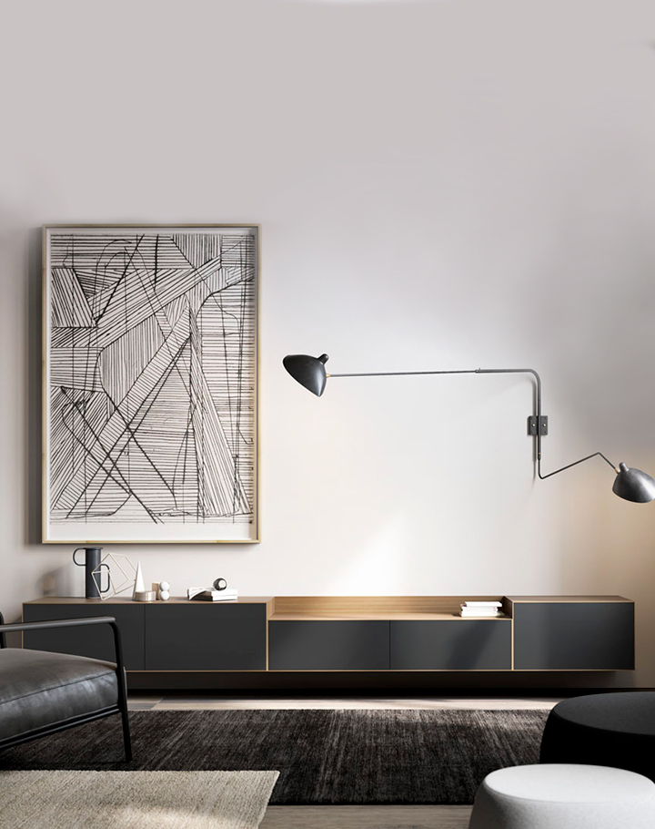 Lauki wall mounted unit in graphite