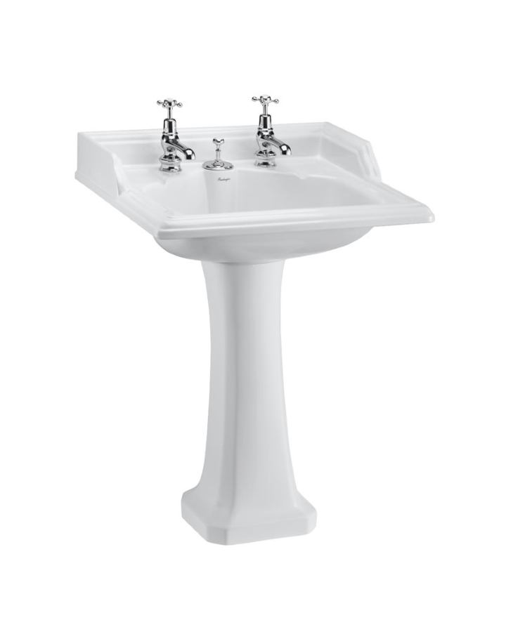 CLEARANCE: Burlington classic invisible overflow basin and pedestal