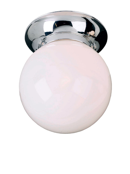 Lefroy Brooks Classic flush mounted ceiling light 6 inch glass LB4002